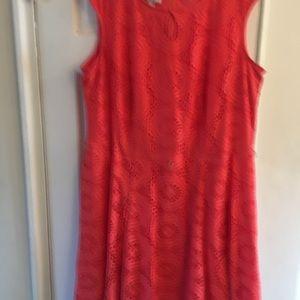 London Style Lace Mid-length Sleeveless Dress 20W